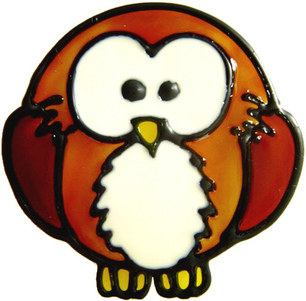 832 - Diddy Owl handmade peelable window cling decoration