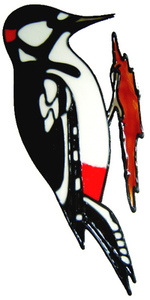 834 - Woodpecker handmade peelable window cling decoration