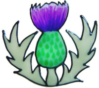 847 - Thistle handmade peelable window cling decoration