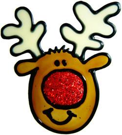 848 - Diddy Rudolf handmade peelable window cling decoration