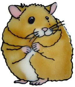 853 - Hamster handmade peelable window cling decoration