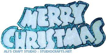 966 - Merry Christmas handmade peelable window cling decoration