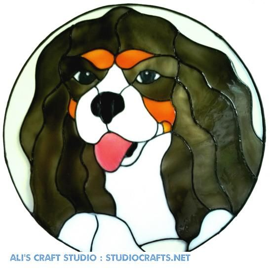 1189 - Cavalier King Charles Spaniel Dog handmade peelable window cling dec