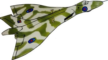 838 - Avro Vulcan handmade peelable window cling decoration