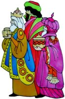 1219 - We Three Kings handmade peelable window cling decoration