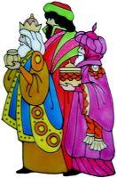1219 - We Three Kings handmade peelable window cling decoration