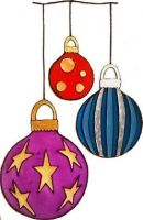 1269- Hanging Baubles - Handmade peelable static window cling decoration
