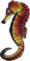 1087 - Small Seahorse handmade peelable window cling decoration