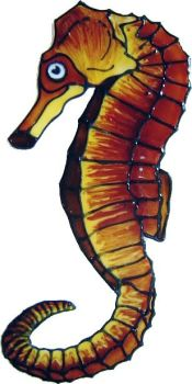 1087 - Small Seahorse handmade peelable window cling decoration