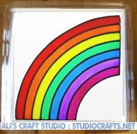 1308 - Rainbow Coasters (95mm square)