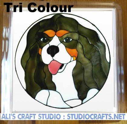 1308 - Cavalier King Charles Spaniel Dog Coasters (95mm square)