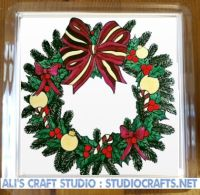 1308 - Christmas Wreath Coasters (95mm square)