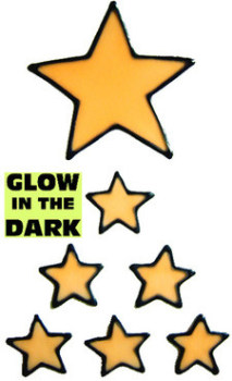 872 - Glow in the Dark Stars Set handmade peelable window cling decoration
