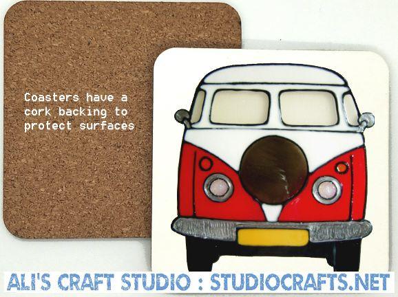 1308 - Campervan Coasters (95mm square)