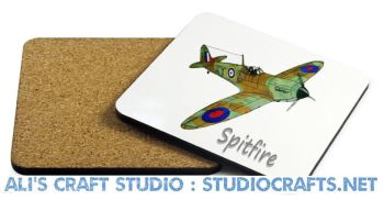 1308 - Aircraft Coasters (95mm square)