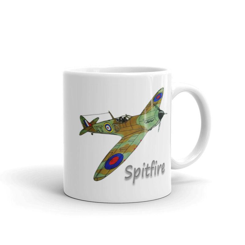 1319 - 11oz Printed Ceramic Mug -  Aircraft