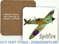 Spitfire Wood-Cork Coaster
