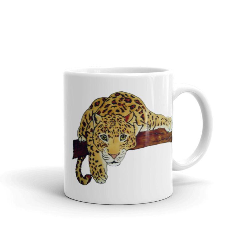 1319 - 11oz Printed Ceramic Mug - Leopard