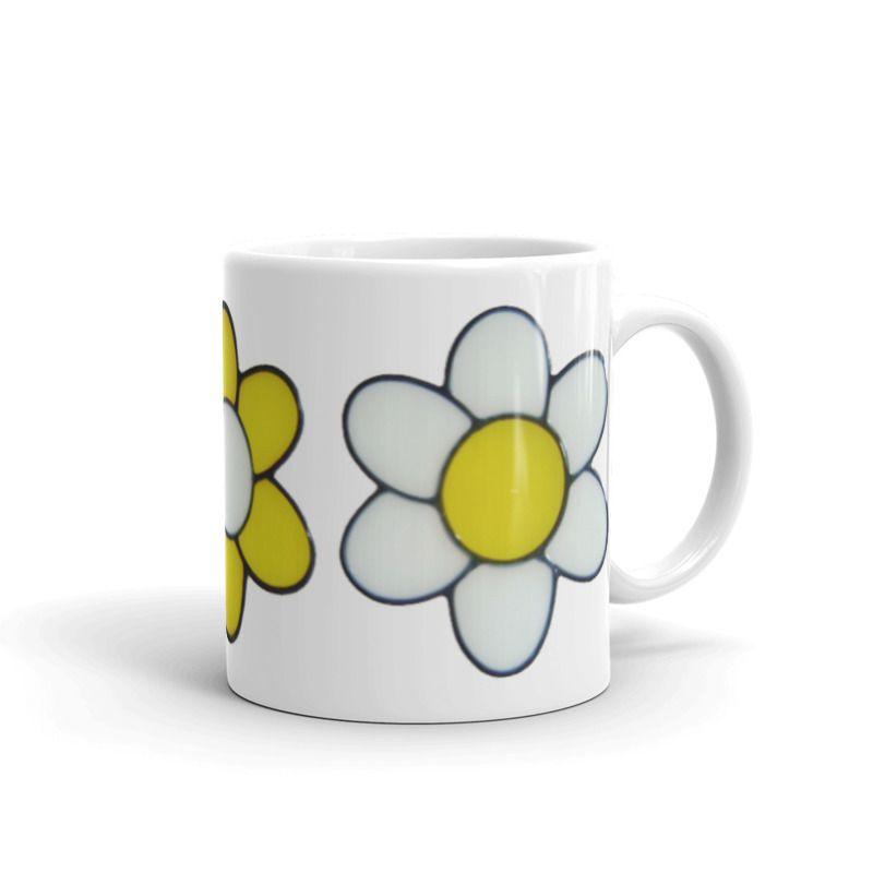 1319 - 11oz Printed Ceramic Mug - Three Flowers
