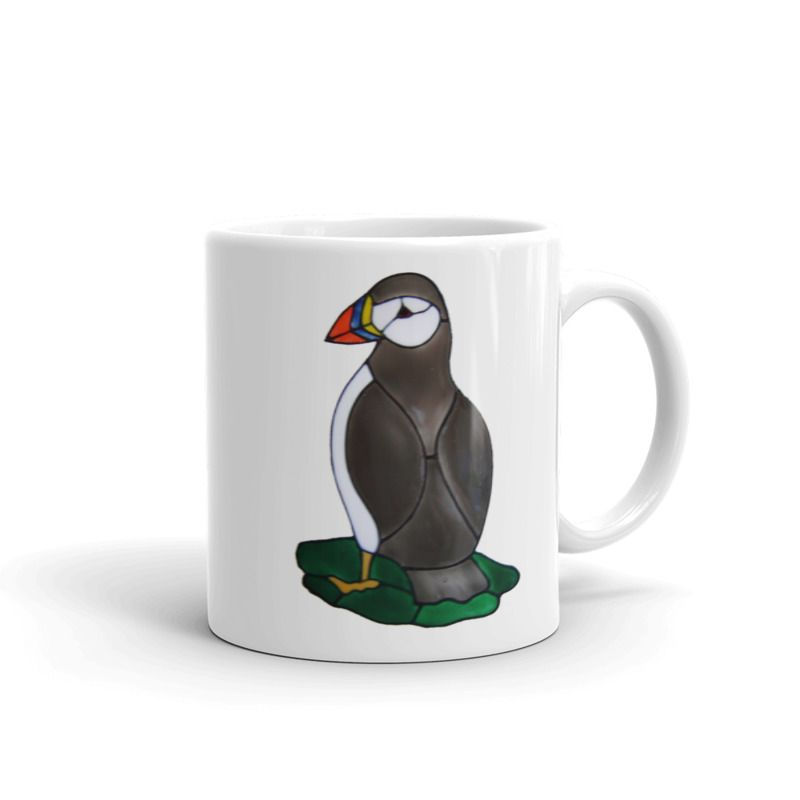 1319 - 11oz Printed Ceramic Mug - Puffin