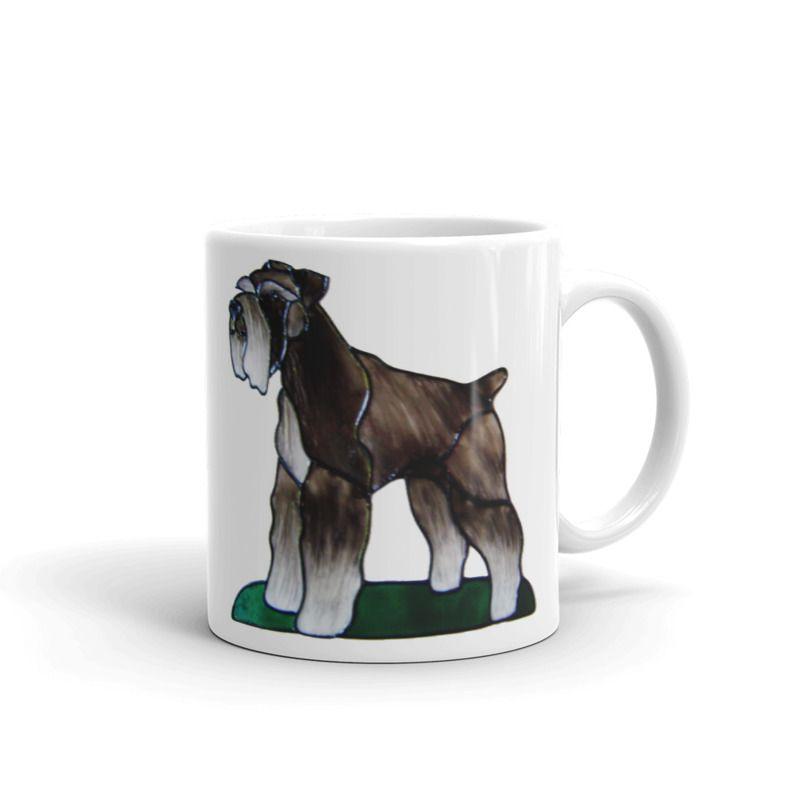 1319 - 11oz Printed Ceramic Mug - Schnauzer