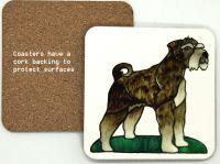 1308 - Schnauzer Dog Coasters (95mm square)