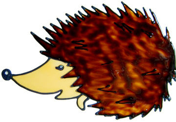 850 - Hedgehog handmade peelable window cling decoration