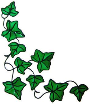 865 - Ivy Corner handmade peelable window cling decoration