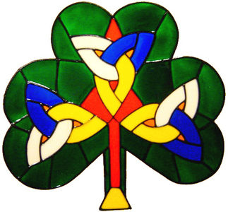 887 - Celtic Shamrock handmade peelable window cling decoration