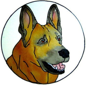 890 - German Shepherd Dog Frame handmade peelable window cling decoration