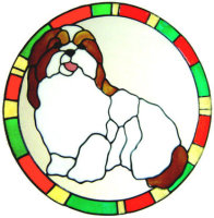 880 - Shih-Tzu Dog Frame handmade peelable window cling decoration