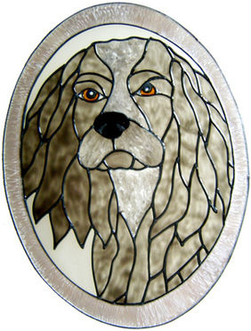 839 - Cocker Spaniel in Frame handmade peelable window cling decoration