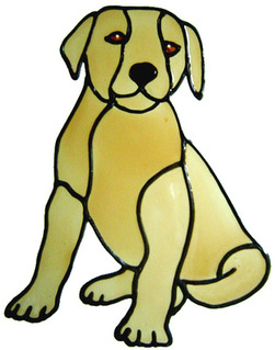 885 - Labrador Puppy Dog handmade peelable window cling decoration