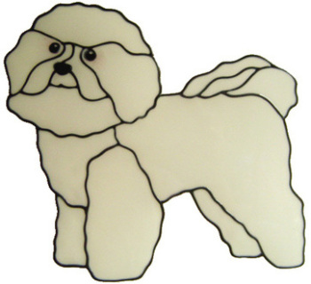 900 - Bichon Frise Dog  handmade peelable window cling decoration