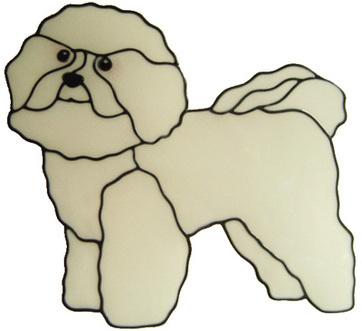 900 - Bichon Frise Dog  handmade peelable window cling decoration