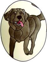 863 - Labrador Dog in Frame handmade peelable window cling decoration