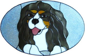 884 - Cavalier King Charles Spaniel Dog handmade peelable window cling decoration