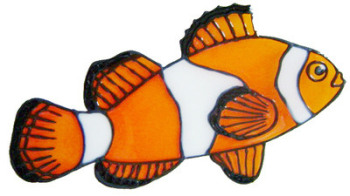 897 - Clown Fish handmade peelable window cling decoration