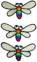 913 - Rainbow Bugs handmade peelable window cling decoration