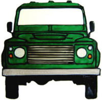 931 - Land Rover Discovery handmade peelable window decoration
