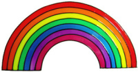935 - Rainbow handmade peelable window cling decoration