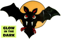 942 - Batty Bat handmade peelable window cling decoration