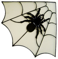 944 - Spider Web Corner handmade peelable window cling decoration