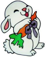 5 - Bunny - Handmade peelable static window cling decoration