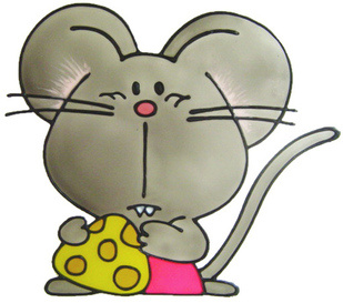 355 - Mouse handmade peelable window cling decoration