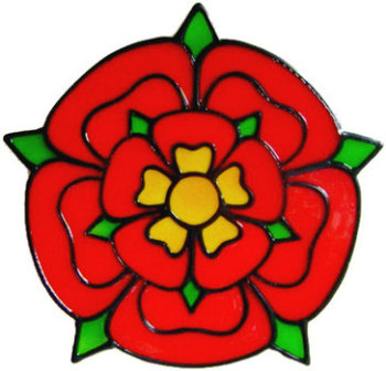 920 - Lancashire Rose handmade peelable window cling decoration