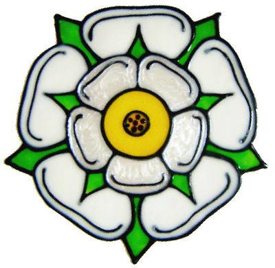 836 - Yorkshire Rose handmade peelable window cling decoration