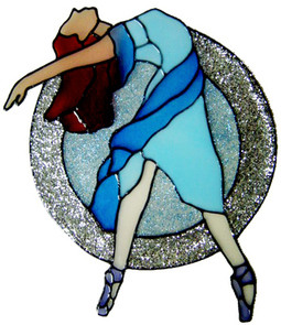 955 - Dancer handmade peelable window cling decoration