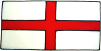 717 - Small St George Flag - Handmade peelable static window cling decoration