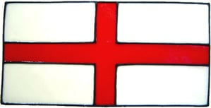 717 - Small St George Flag - Handmade peelable static window cling decorati
